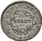 Photo numismatique  ARCHIVES VENTE 2016 -6 juin MODERNES FRANÇAISES NAPOLEON Ier, empereur (18 mai 1804- 6 avril 1814)  111- Quart, Paris 1806.