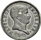 Photo numismatique  ARCHIVES VENTE 2016 -6 juin MODERNES FRANÇAISES NAPOLEON Ier, empereur (18 mai 1804- 6 avril 1814)  117- Quart «tête de nègre», Paris 1807.