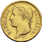 Photo numismatique  ARCHIVES VENTE 2016 -6 juin MODERNES FRANÇAISES NAPOLEON Ier, empereur (18 mai 1804- 6 avril 1814)  119- 40 francs or, La Rochelle 1808.