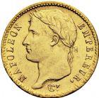 Photo numismatique  ARCHIVES VENTE 2016 -6 juin MODERNES FRANÇAISES NAPOLEON Ier, empereur (18 mai 1804- 6 avril 1814)  122- 20 francs or, Paris 1808.