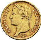 Photo numismatique  ARCHIVES VENTE 2016 -6 juin MODERNES FRANÇAISES NAPOLEON Ier, empereur (18 mai 1804- 6 avril 1814)  125- 40 francs or, Paris 1811.