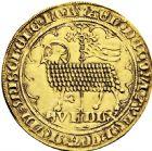 Photo numismatique  ARCHIVES VENTE 2016 -6 juin BARONNIALES - POIDS de VILLE Comté de HOLLANDE GUILLAUME V de Bavière (1350-1389) 243- Grand mouton d'or avec le titre de DUX, Dordrecht.