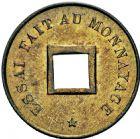 Photo numismatique  ARCHIVES VENTE 2016 -6 juin COLONIES FRANCAISES (1640-1843) 3e REPUBLIQUE (4 septembre 1870-10 juillet1940) COCHINCHINE 251- Essai de monnayage de la Monnaie de Paris, sapèque 1878.