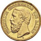 Photo numismatique  ARCHIVES VENTE 2016 -6 juin MONNAIES DU MONDE ALLEMAGNE BADE, Frédéric Ier (1852-1907) 258- 20 mark, 1895 G (Karlsruhe).
