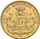 Photo numismatique  ARCHIVES VENTE 2016 -6 juin MONNAIES DU MONDE ALLEMAGNE HAMBOURG, Ville libre 263- 20 mark 1900 J (Hambourg).