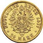 Photo numismatique  ARCHIVES VENTE 2016 -6 juin MONNAIES DU MONDE ALLEMAGNE HAMBOURG, Ville libre 264- 20 mark 1877 J (Hambourg).