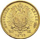 Photo numismatique  ARCHIVES VENTE 2016 -6 juin MONNAIES DU MONDE ALLEMAGNE PRUSSE, Guillaume 1er (1861-1888) 266- 20 mark 1872 A (Berlin).