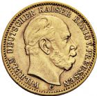 Photo numismatique  ARCHIVES VENTE 2016 -6 juin MONNAIES DU MONDE ALLEMAGNE PRUSSE, Guillaume 1er (1861-1888) 267- 20 mark 1876 C (Francfort).