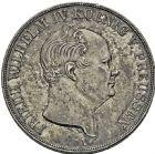 Photo numismatique  ARCHIVES VENTE 2016 -6 juin MONNAIES DU MONDE ALLEMAGNE PRUSSE, Frédéric-Guillaume III (1797-1840) 273- Thaler 1825. -Frédéric-Guillaume IV (1840-1861). 2 thaler 1855.