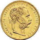 Photo numismatique  ARCHIVES VENTE 2016 -6 juin MONNAIES DU MONDE AUTRICHE FRANCOIS-JOSEPH (1848-1916) 285- 8 florin, 20 francs, 1876.