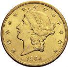 Photo numismatique  ARCHIVES VENTE 2016 -6 juin MONNAIES DU MONDE ÉTATS-UNIS d'AMÉRIQUE du NORD  298- 20 dollars or, 1904.