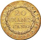 Photo numismatique  ARCHIVES VENTE 2016 -6 juin MONNAIES DU MONDE ITALIE REPUBLIQUE SUBALPINE (1800-1802) 314- 20 francs or, « Marengo » an 10.