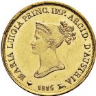 Photo numismatique  ARCHIVES VENTE 2016 -6 juin MONNAIES DU MONDE ITALIE PARME. Marie Louise (14 septembre 1815-16 décembre 1847) 321- 20 lire or, Milan 1815.
