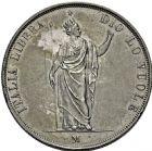 Photo numismatique  ARCHIVES VENTE 2016 -6 juin MONNAIES DU MONDE ITALIE LOMBARDIE, gouvernement provisoire 324- 5 lire, Milan 1848.