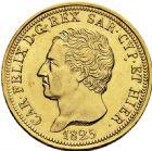Photo numismatique  ARCHIVES VENTE 2016 -6 juin MONNAIES DU MONDE ITALIE SAVOIE-SARDAIGNE, Charles Félix (1821-1831) 325- 80 lire or. Turin 1825.