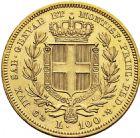 Photo numismatique  ARCHIVES VENTE 2016 -6 juin MONNAIES DU MONDE ITALIE SAVOIE-SARDAIGNE, Charles Albert (1831-1849) 327- 100 lire or, Gênes 1836.