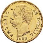 Photo numismatique  ARCHIVES VENTE 2016 -6 juin MONNAIES DU MONDE ITALIE SAVOIE-SARDAIGNE, Umberto Ier (1878-1900) 330- 20 lire, Rome 1882.
