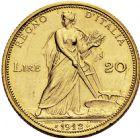 Photo numismatique  ARCHIVES VENTE 2016 -6 juin MONNAIES DU MONDE ITALIE SAVOIE-SARDAIGNE, Victor Emmanuel III (1900-1943) 331- 20 lire, Rome 1912.