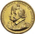 Photo numismatique  ARCHIVES VENTE 2016 -6 juin MEDAILLES France et Europe - XVIIe au Xxe siècle  348- Henri IV et Marie. La naissance de Louis dauphin (futur Louis XIII), par Nicolas Guinier.