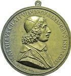 Photo numismatique  ARCHIVES VENTE 2016 -6 juin MEDAILLES France et Europe - XVIIe au Xxe siècle  351- Matthieu Chappuis, (1615-1678), 1651, par Claude Warin.