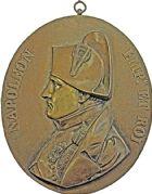Photo numismatique  ARCHIVES VENTE 2016 -6 juin MEDAILLES France et Europe - XVIIe au Xxe siècle  357- Grande fonte bicolore de Napoléon Ier.