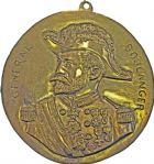 Photo numismatique  ARCHIVES VENTE 2016 -6 juin MEDAILLES France et Europe - XVIIe au Xxe siècle  360- Général Boulanger, deux médailles: fonte de bronze et plaquette en bois.