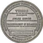 Photo numismatique  ARCHIVES VENTE 2016 -6 juin MÉDAILLES France et Europe - XVIIe au Xxe siècle  361- Victor Cousin (1792-1867), inauguration du monument à la Sorbonne, 1873.