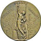 Photo numismatique  ARCHIVES VENTE 2016 -6 juin MEDAILLES France et Europe - XVIIe au Xxe siècle  364- Union des sociétés de gymnastique de France, par Alphée Dubois.