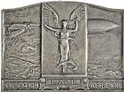 Photo numismatique  ARCHIVES VENTE 2016 -6 juin MEDAILLES France et Europe - XVIIe au Xxe siècle  370- Plaquette. Hommage de la ligue aéronautique de France, par A. Morlon.