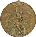 Photo numismatique  ARCHIVES VENTE 2016 -6 juin MEDAILLES France et Europe - XVIIe au Xxe siècle  374- Grande plaque identique, non signée, Barbedienne.