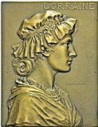 Photo numismatique  ARCHIVES VENTE 2016 -6 juin MEDAILLES France et Europe - XVIIe au Xxe siècle  377- Plaquette La Lorraine, par G. Prudhomme.