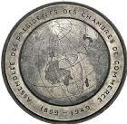 Photo numismatique  ARCHIVES VENTE 2016 -6 juin MEDAILLES France et Europe - XVIIe au Xxe siècle  378- Assemblée des Présidents de Ch. De Commerce, 1899-1949, par Rivaud.
