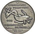 Photo numismatique  ARCHIVES VENTE 2016 -6 juin MEDAILLES France et Europe - XVIIe au Xxe siècle  379- Compagnie maritime des chargeurs réunis, par L. Bazor.