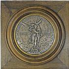 Photo numismatique  ARCHIVES VENTE 2016 -6 juin MEDAILLES France et Europe - XVIIe au Xxe siècle  381- Grande plaque de l'union nationale des sociétés de tir.