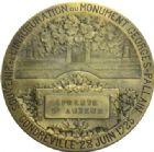 Photo numismatique  ARCHIVES VENTE 2016 -6 juin MEDAILLES France et Europe - XVIIe au Xxe siècle  388- Georges PALLAIN (1847-1923). Epreuve d'auteur de l'inauguration du monument le 28 juin 1925 à Gondreville, par Abel Lafleur.