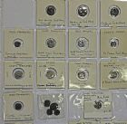 Photo numismatique  ARCHIVES VENTE 2016 -6 juin LOTS DE MONNAIES COLONIES FRANCAISES  397- Indes. Lot de 21 monnaies dont 10 en argent.