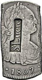 Photo numismatique  ARCHIVES VENTE 2016 -6 juin Choix de COLONIES FRANCAISES SAINTE-LUCIE  403- *6 livres 15 sols.