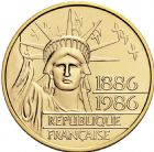 Photo numismatique  ARCHIVES VENTE 2016 -6 juin LOTS DE MONNAIES   409- 100 francs or 1986.