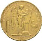 Photo numismatique  MONNAIES MODERNES FRANÇAISES 3e REPUBLIQUE (4 septembre 1870-10 juillet1940)  100 francs or, Paris 1909.