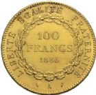 Photo numismatique  MONNAIES MODERNES FRANÇAISES 3e REPUBLIQUE (4 septembre 1870-10 juillet1940)  100 francs or, Paris 1886.