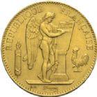 Photo numismatique  MONNAIES MODERNES FRANÇAISES 3e REPUBLIQUE (4 septembre 1870-10 juillet1940)  100 francs or, Paris 1886.