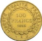 Photo numismatique  MONNAIES MODERNES FRANÇAISES 3ème REPUBLIQUE (4 septembre 1870-10 juillet 1940)  100 francs or, Paris 1886.