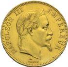 Photo numismatique  MONNAIES MODERNES FRANÇAISES NAPOLEON III, empereur (2 décembre 1852-1er septembre 1870)  100 francs or, Paris 1868.