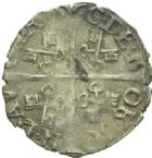 Photo numismatique  MONNAIES BARONNIALES Comtat VENAISSIN PIE V (1566-1572) Demi gros au nom de Charles de Bourbon.