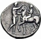 Photo numismatique  ARCHIVES VENTE 2016-19 oct GRECE ANTIQUE Italie - Calabre Tarente Pyrrhus d'Epire (vers 281-272) 4- Statère.