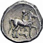 Photo numismatique  ARCHIVES VENTE 2016-19 oct GRECE ANTIQUE Italie - Calabre Monnayage CAMPANO-TARENTIN, (1ère moitié du IIIème siècle) 7- Statère.