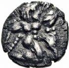 Photo numismatique  ARCHIVES VENTE 2016-19 oct GRECE ANTIQUE Villes de MACEDOINE Lété (530-500) 37- Obole, (avant 500).