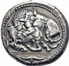 Photo numismatique  ARCHIVES VENTE 2016-19 oct GRÈCE ANTIQUE Villes de MACÉDOINE Acanthe (500-424) 38- Tétradrachme, (500-424).
