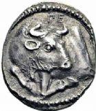 Photo numismatique  ARCHIVES VENTE 2016-19 oct GRÈCE ANTIQUE Villes de MACÉDOINE Acanthe (424-380) 39- Tétrobole, (424-380).