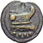 Photo numismatique  ARCHIVES VENTE 2016-19 oct RÉPUBLIQUE ROMAINE AES GRAVE. Rome  150- Triens (225-217).